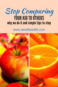Easy to follow guidance on how to stop comparing your kids to others