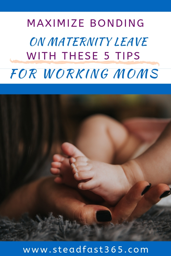 Maternity leave is just too short. Here are 5 easy tips to help you make the most out of your bonding time. There are so many ways to bond with your baby on maternity leave. During that time you will probably be focused on sleep and all the other obstacles that come with postpartum. Bonding does not always come easy and can even be stressful when you don't know how. These tips take the stress out of that for you. Tip number 4 is my personal favorite and may surprise you, but is so key to making the other tips a success in bonding with your baby while on maternity leave.