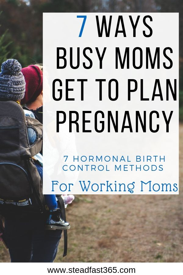 Working moms don't take family planning and birth control lightly especially if you need to make special arrangements with your job. The natural route is great, but you may be looking into other hormonal birth control options you feel would be more reliable with your work life balancing act. This post will introduce you to 7 different reversible types of hormonal birth control options and one permanent one. You should be able to start making some informed birth control decisions that line up with your daily routines as a working mom.